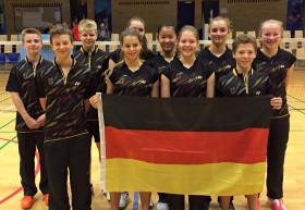 Das deutsche Nationalteam beim Danish Junior Cup